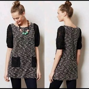 Postmark/Anthropologie Black/white tunic size L